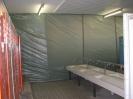 Ein - hausung für Asbest - Demontage.