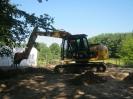 Fundament werden Freigelegt.